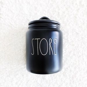 Rae Dunn Black STORE Canister NWT